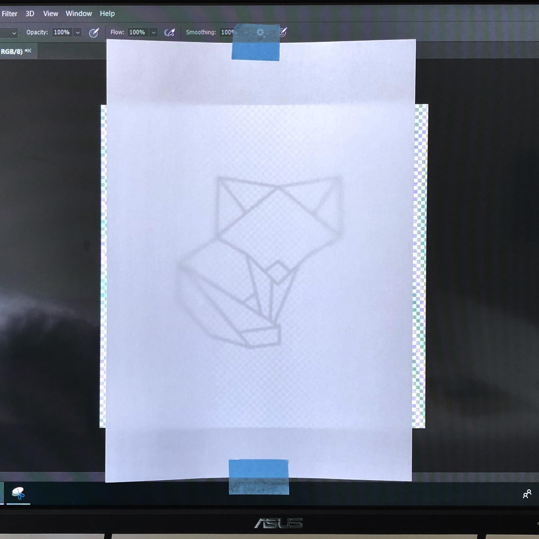Fox over computer